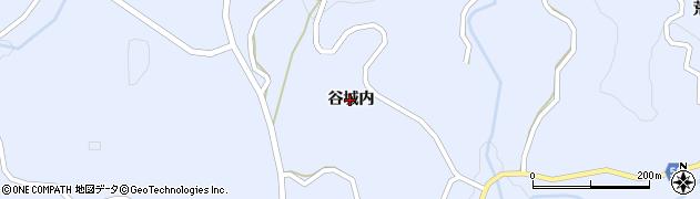 福島県福島市飯野町青木(谷城内)周辺の地図