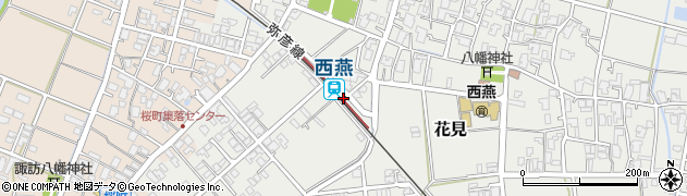 新潟県燕市周辺の地図