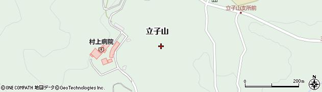 福島県福島市立子山(岡窪)周辺の地図