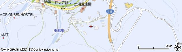 福島県福島市土湯温泉町(菅ノ沢)周辺の地図