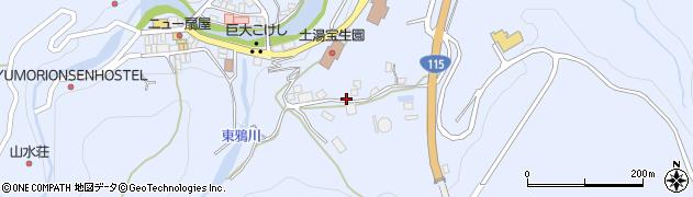 福島県福島市土湯温泉町(坂ノ上)周辺の地図