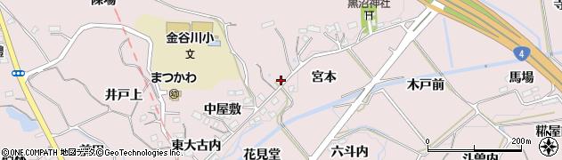 福島県福島市松川町浅川(宮本)周辺の地図
