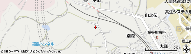 福島県福島市松川町関谷(向田)周辺の地図
