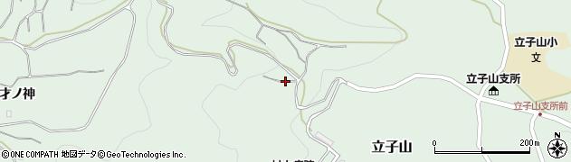 福島県福島市立子山(北浦山)周辺の地図