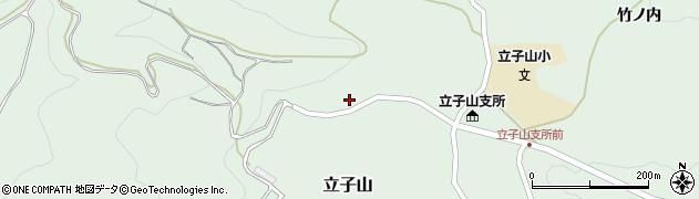 福島県福島市立子山(栃窪)周辺の地図