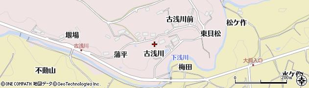 福島県福島市松川町浅川(古浅川)周辺の地図