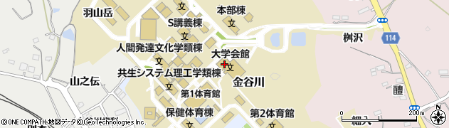 福島大学事務局 財務課周辺の地図