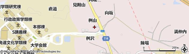 福島県福島市松川町浅川(桝山)周辺の地図