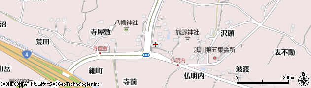 福島県福島市松川町浅川(南八幡)周辺の地図