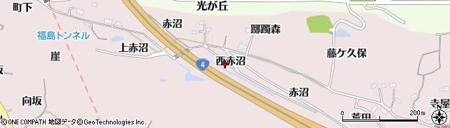 福島県福島市松川町浅川(西赤沼)周辺の地図