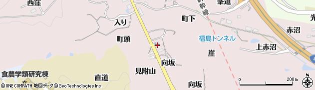福島県福島市松川町浅川(向坂)周辺の地図