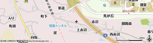 福島県福島市松川町浅川(峯道)周辺の地図