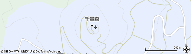 千貫森周辺の地図