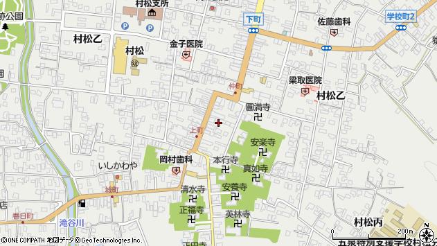 〒959-1704 新潟県五泉市村松甲の地図