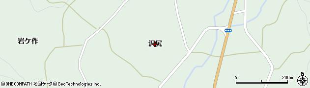 福島県福島市立子山(沢尻)周辺の地図