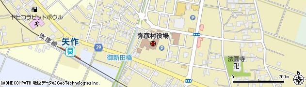 新潟県弥彦村(西蒲原郡)周辺の地図