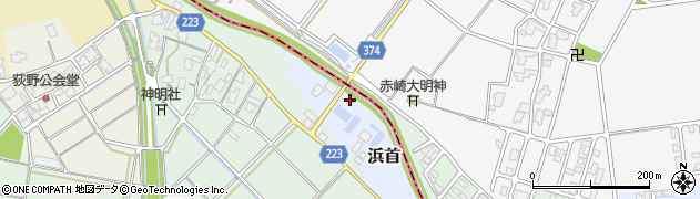 新潟県弥彦村(西蒲原郡)浜首周辺の地図