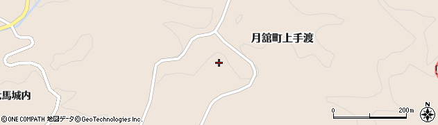 福島県伊達市月舘町上手渡(砂田)周辺の地図