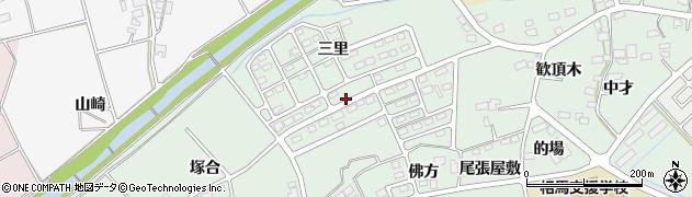 福島県南相馬市鹿島区寺内三里周辺の地図