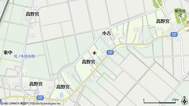 〒950-1324 新潟県新潟市西蒲区高野宮の地図