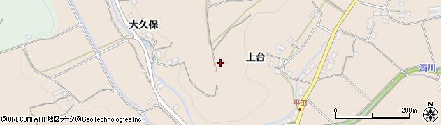 福島県福島市小田(日向前)周辺の地図
