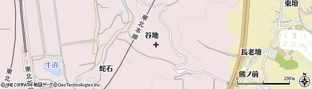 福島県福島市平石(谷地)周辺の地図