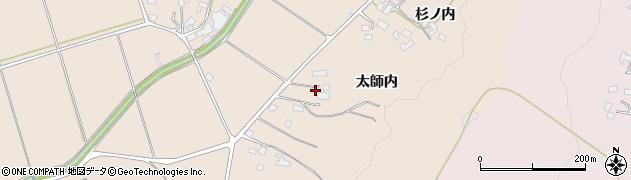 福島県福島市小田(太師内)周辺の地図