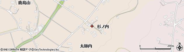 福島県福島市小田(杉ノ内)周辺の地図