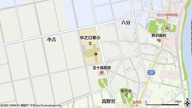 〒950-1325 新潟県新潟市西蒲区小吉の地図