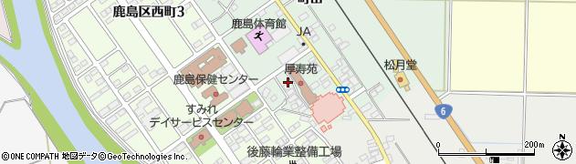 福島県南相馬市鹿島区横手八郎内周辺の地図