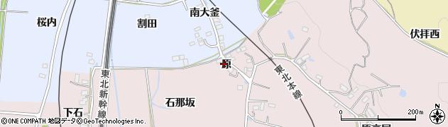 福島県福島市平石(原)周辺の地図