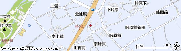 福島県福島市荒井(北峠原)周辺の地図