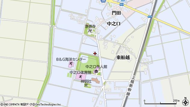 〒950-1327 新潟県新潟市西蒲区中之口の地図