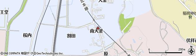福島県福島市永井川(南大釜)周辺の地図