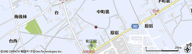 福島県福島市荒井(中町裏)周辺の地図