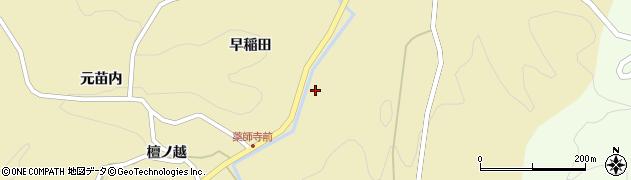 福島県伊達市月舘町糠田(三斗蒔)周辺の地図