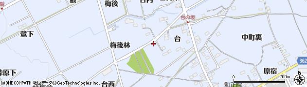 福島県福島市荒井(梅後林)周辺の地図