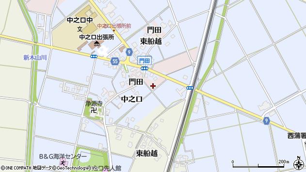 〒950-1328 新潟県新潟市西蒲区門田の地図