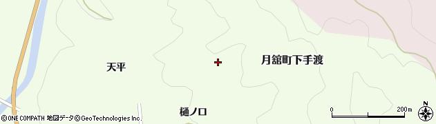 福島県伊達市月舘町下手渡(初森)周辺の地図