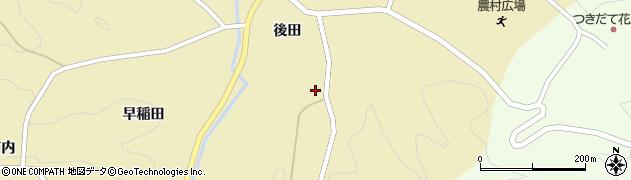 福島県伊達市月舘町糠田(天坂)周辺の地図