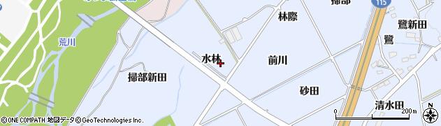 福島県福島市荒井(水林)周辺の地図