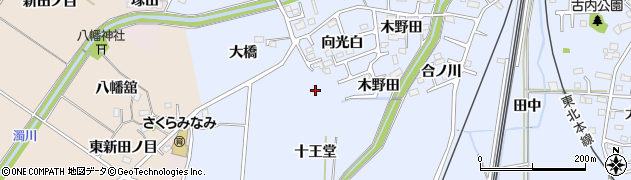 福島県福島市永井川(大橋)周辺の地図