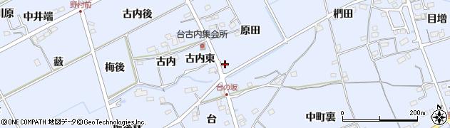 福島県福島市荒井(原田)周辺の地図