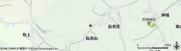 福島県福島市山田(長者山)周辺の地図