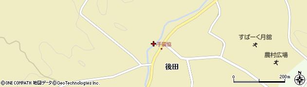 福島県伊達市月舘町糠田(北ケ作)周辺の地図
