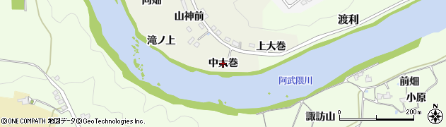 福島県福島市小倉寺(中大巻)周辺の地図