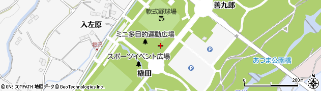 福島県福島市佐原(松ノ中)周辺の地図
