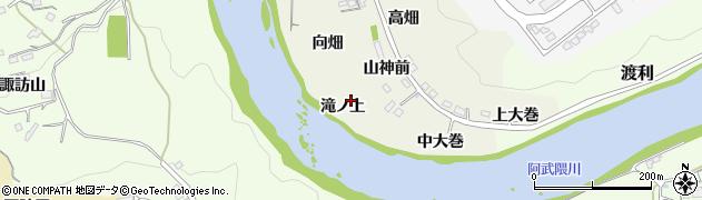 福島県福島市小倉寺(滝ノ上)周辺の地図