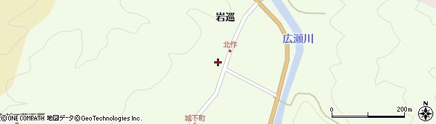 福島県伊達市月舘町下手渡(根廻)周辺の地図