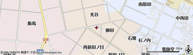 福島県福島市小田(柳田)周辺の地図